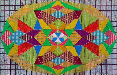 Geometrics by Justin Bean: a solo exhibition of oil paintings and collages